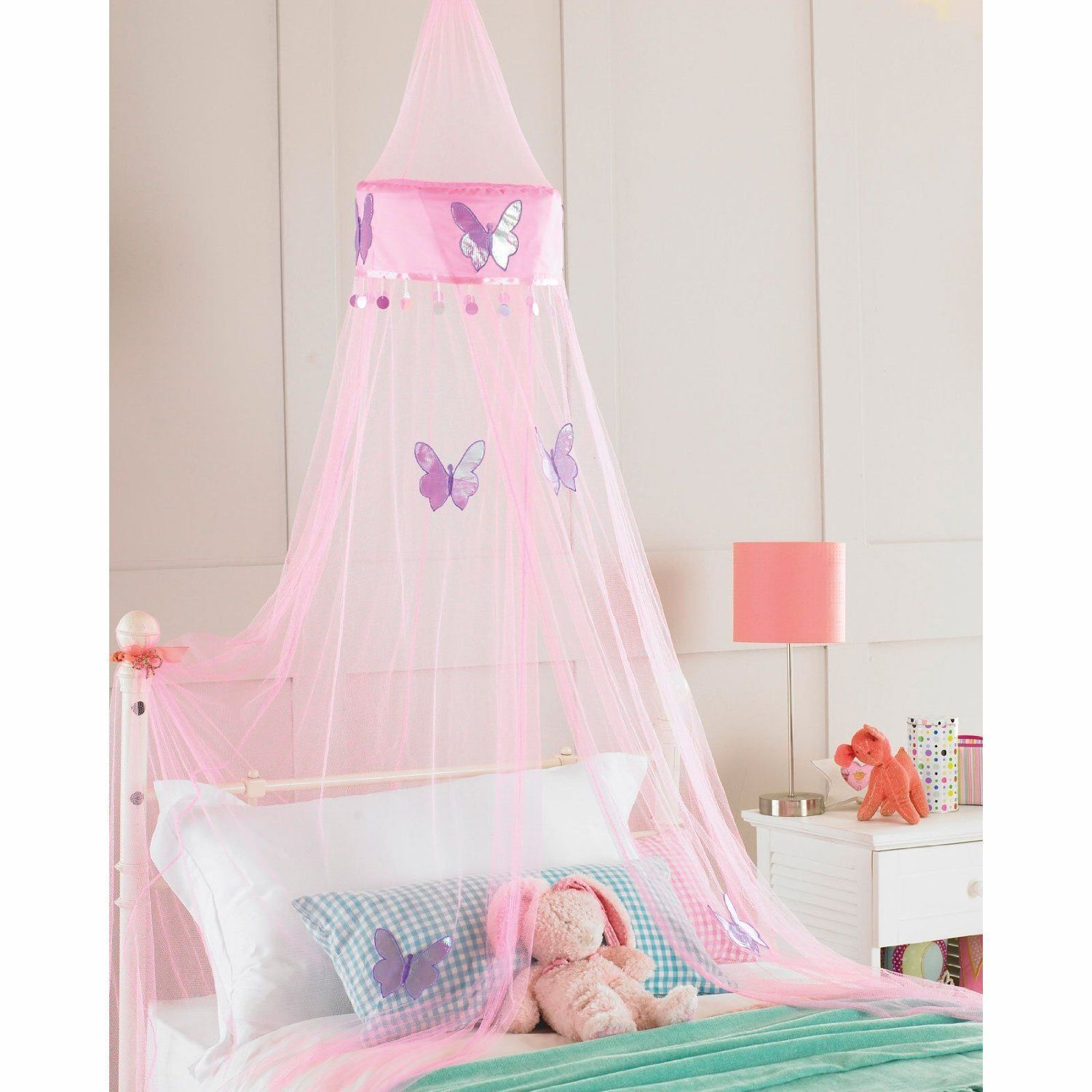 £12.49 Childrens Girls Bed Canopy Mosquito Fly Netting Net 30x230cm - Pink Butterfly Amazon  sc 1 st  Pinterest & 12.49 Childrens Girls Bed Canopy Mosquito Fly Netting Net 30x230cm ...
