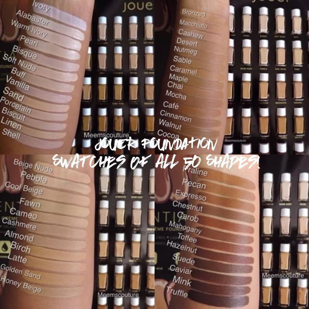 Jouer foundation review swatches of all shades calibeaute also high coverage creme rh pinterest