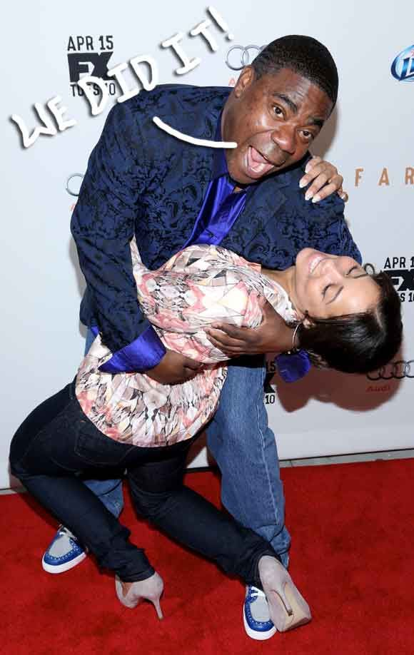 Tracy Morgan Marries Megan Wollover In Intimate Ceremony After Vowing To Walk Her Down The Aisle Without A Cane!