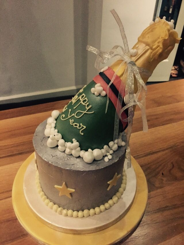 New Years Cake Champagne Bottle Whoopie Pies Custom Cakes