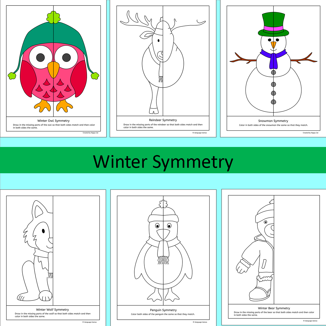 Winter Symmetry NO PREP Geometry fun | Differentiation, Elementary ...