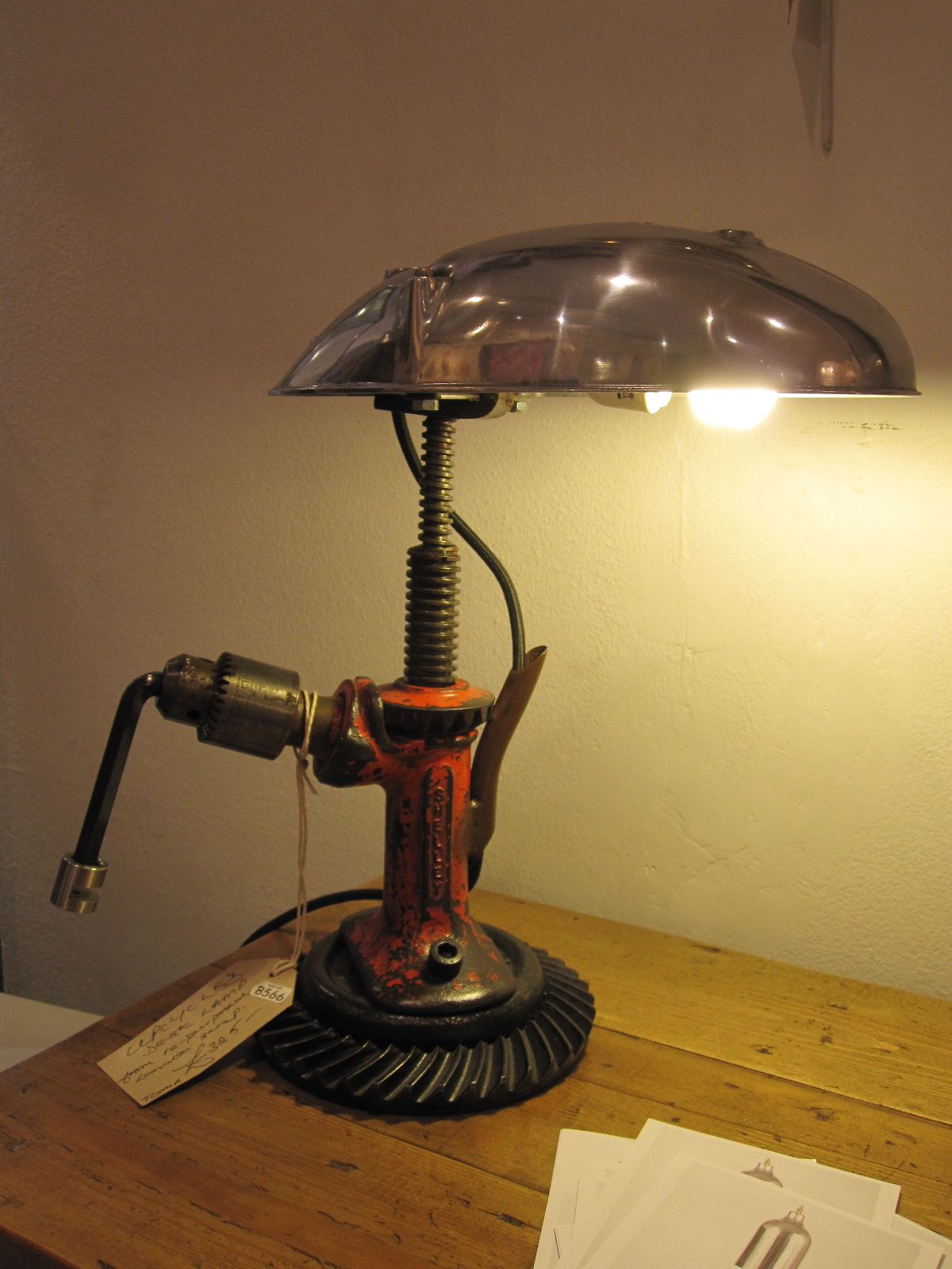 Lamp By The Dog And Bone Man Upcycling Exhibition Creative Lamps Steampunk Lighting Luxury Lamps