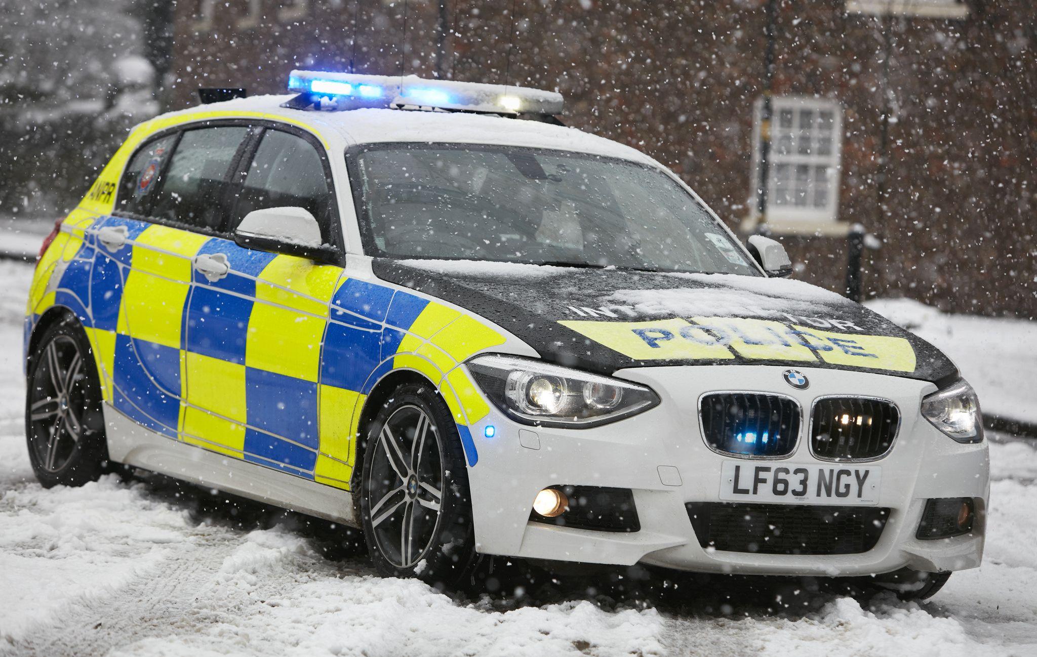 Interceptor In The Snow British Police Cars Police Police Cars