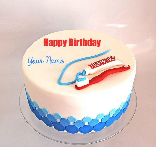 Write Name on Happy Birthday Dentist Doctor Cake Birthday
