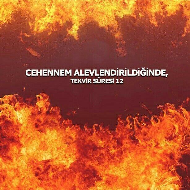 """Rahmân ve Rahîm (olan) Allah'ın adıyla.  8. Diri diri toprağa gömülen kıza, sorulduğunda, 9. """"Hangi günah sebebiyle öldürüldü?diye. 10. (Amellerin yazılı olduğu) defterler açıldığında, 11. Gökyüzü sıyrılıp alındığında, 12. Cehennem tutuşturulduğunda, 13. Ve cennet yaklaştırıldığında, 14. Kişi neler getirdiğini öğrenmiş olacaktır.  #toprak #kız #ölü #günah #amel #defter #gökyüzü #cehennem #alev #cennet #ayetler #tekvirsuresi #ayet #ilmisuffa"""