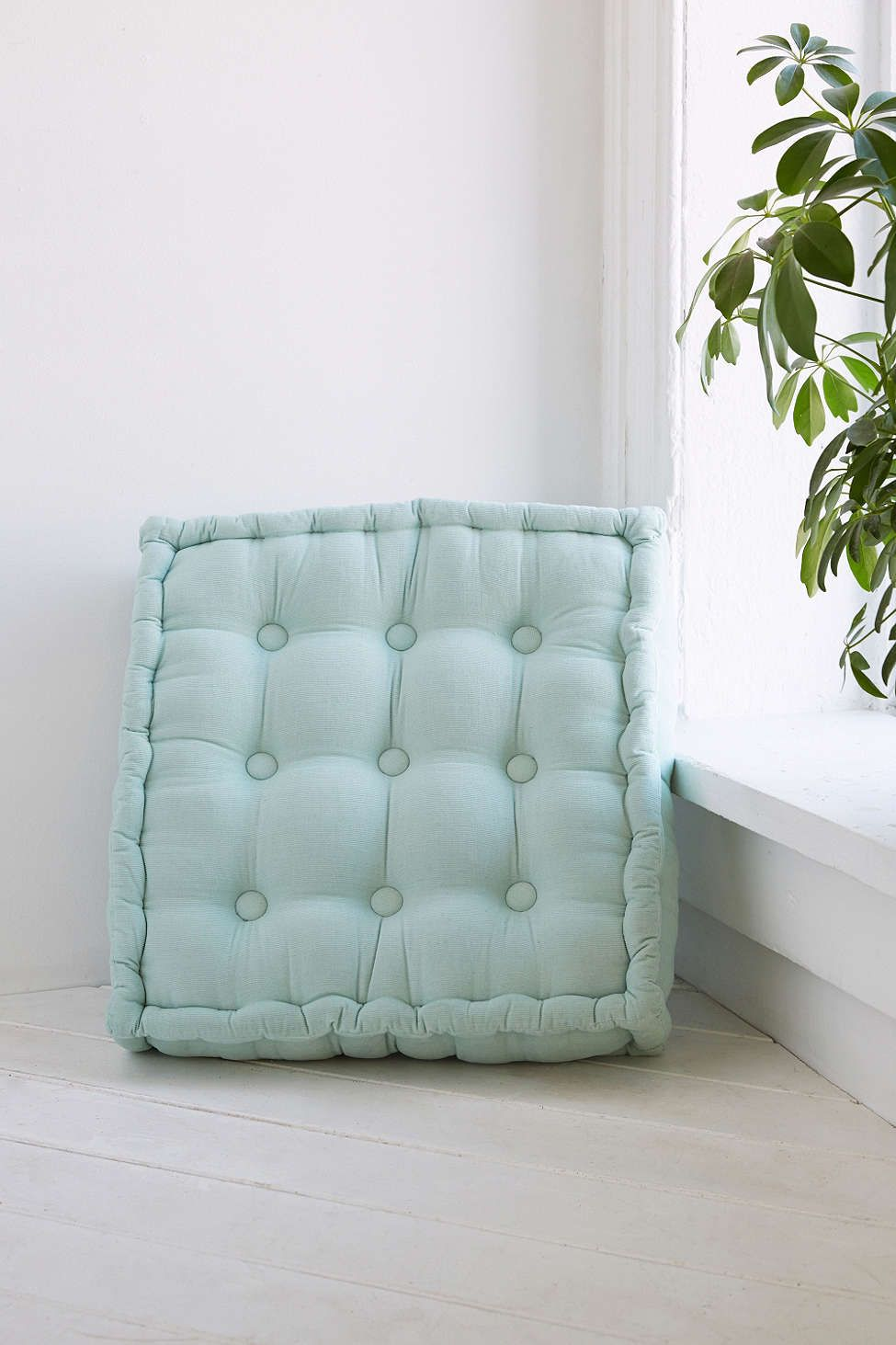 Tufted Corduroy Floor Pillow Floor pillows, Green home