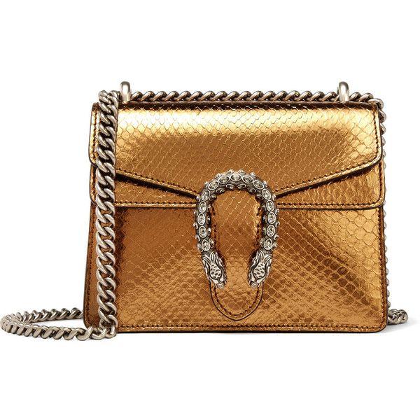 d8a94bc263db Gucci Dionysus mini metallic python shoulder bag ( 2