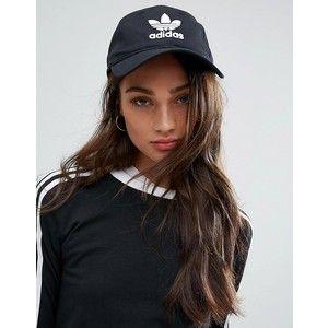 adidas Originals Logo Cap In Black