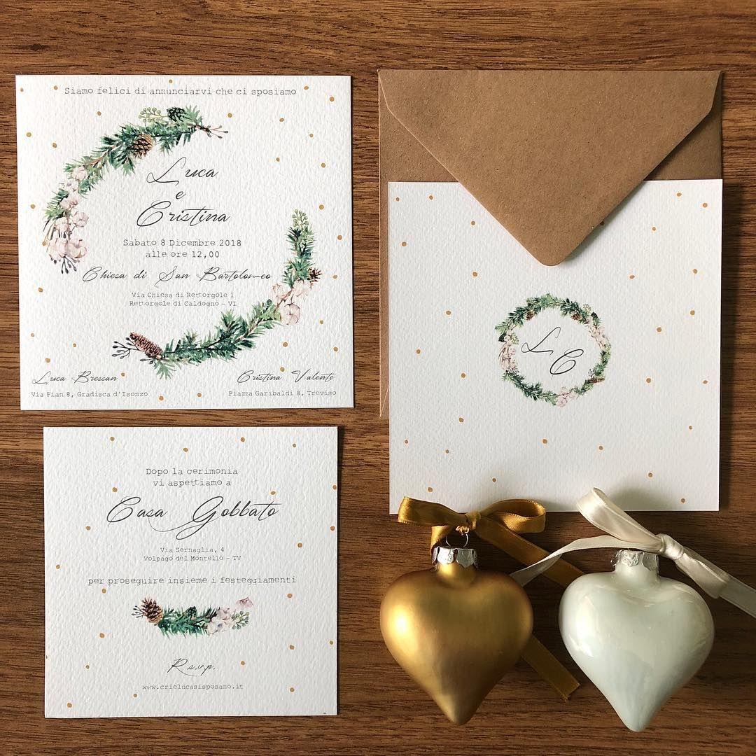 Partecipazioni Matrimonio Natale.Le Partecipazionimatrimonio Di C L In Tema Natalizio Con