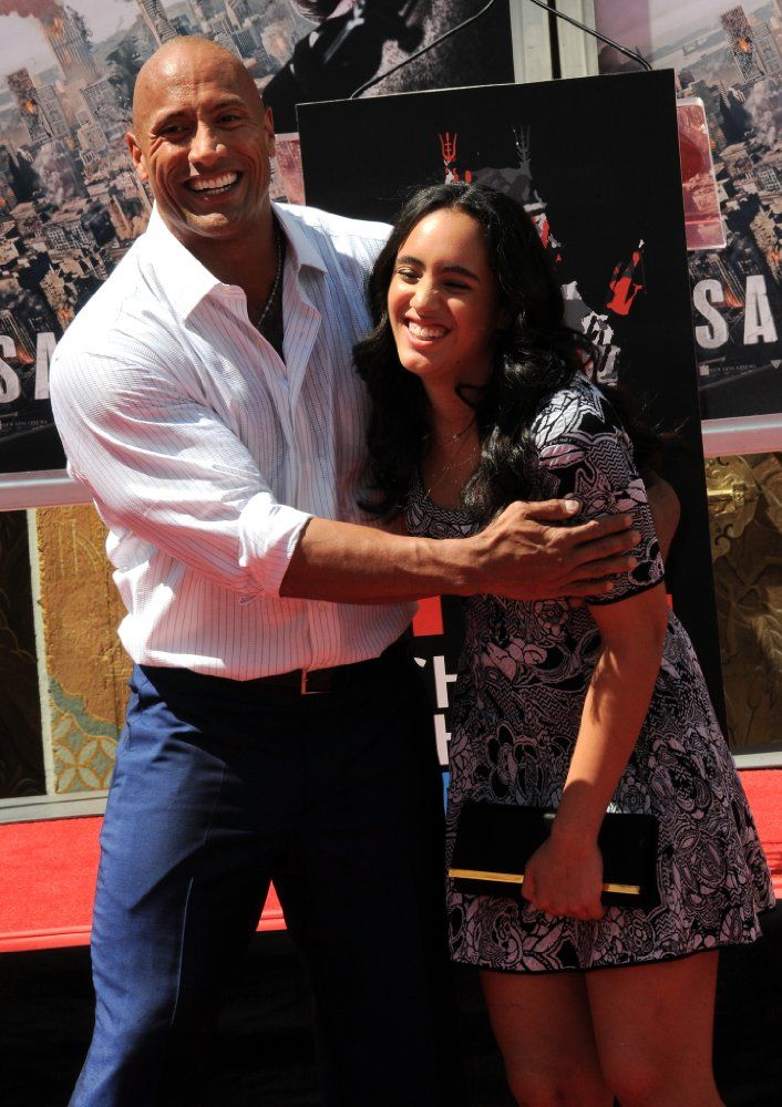 dwayne quotthe rockquot johnson with daughter simone alexandra