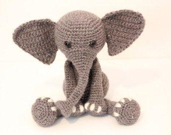 Amigurumi Patterns Elephant : Crochet pattern elephant elephant amigurumi elephant stuffed