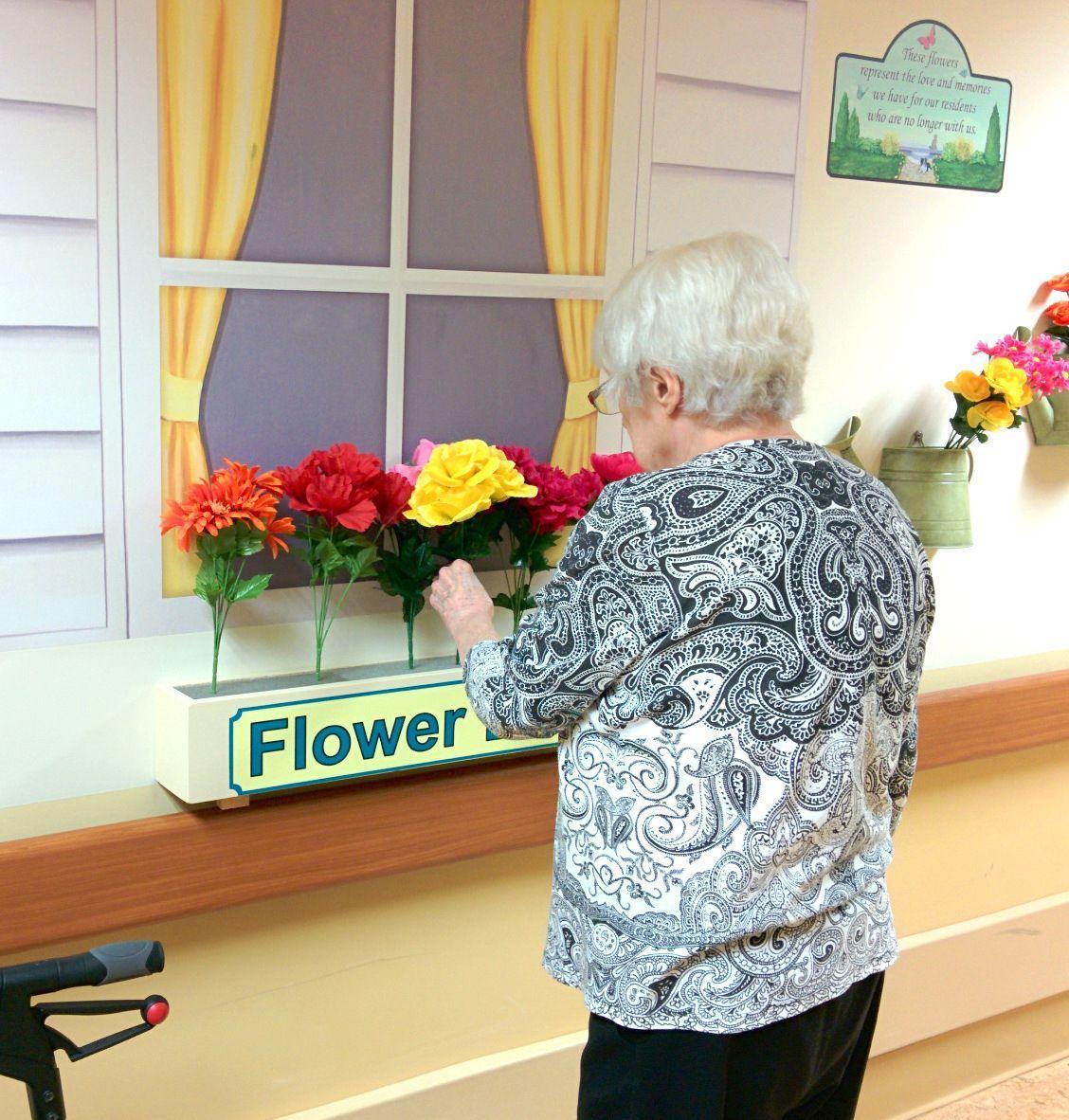 Interactive Flower Mural Nursing home activities