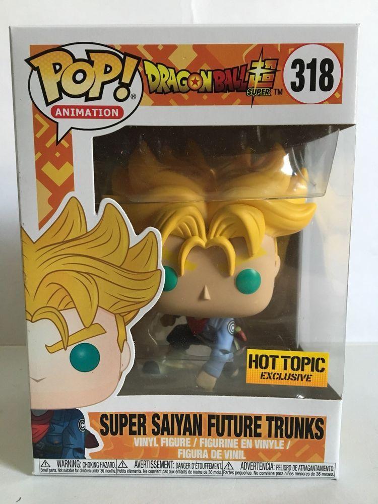 Funko Pop Hit Super Saiyan Future Trunks Gotenks Dragon Ball Super Hot Topic