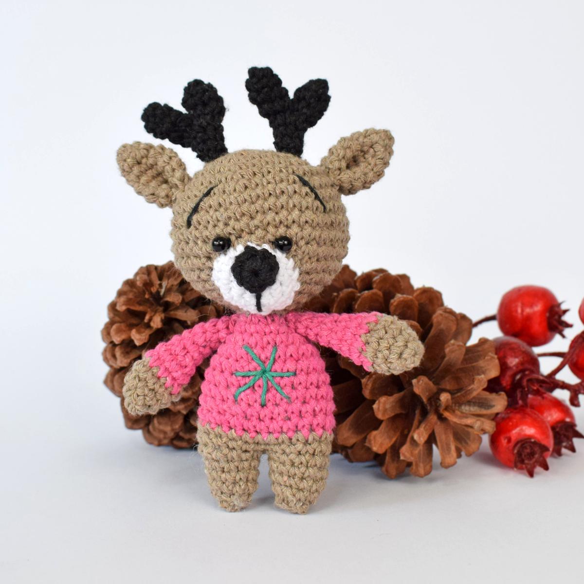 Rena amigurumi | Padrões de crochet natal | 1200x1200