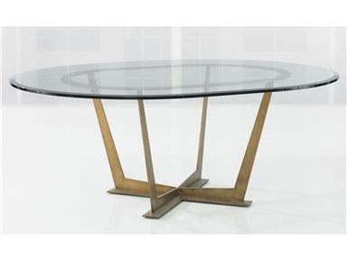 For Kravet Steel Base Oval Table Wd13 72ovo Gl And Other Dining Tables At In New York Ny Top Bronze