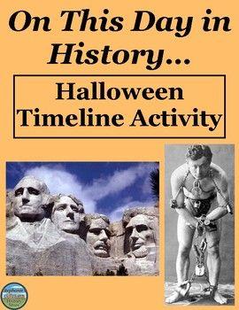 halloween history timeline activities