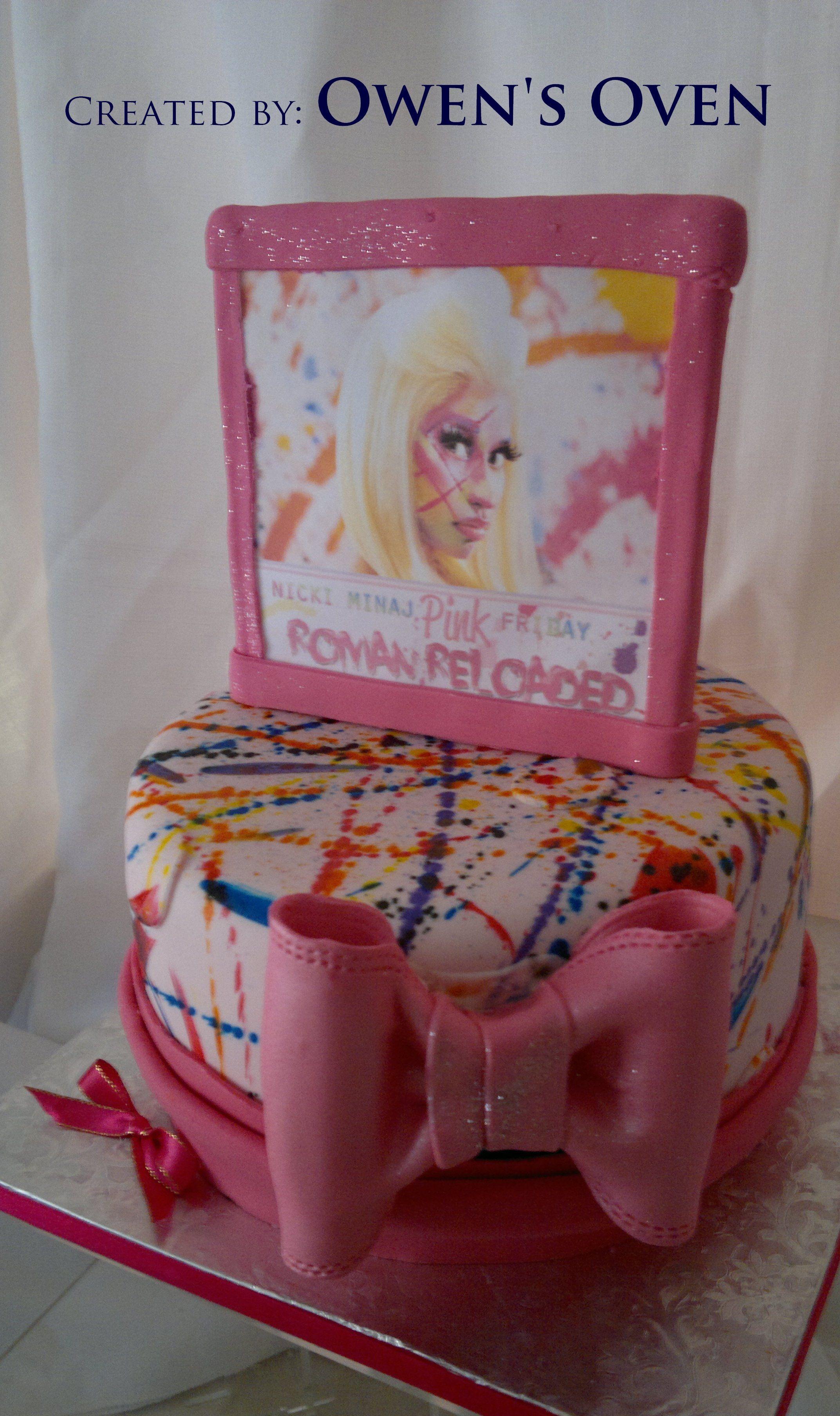 Nicki Minaj Themed Birthday Cake Cakes By Owens Oven Pinterest