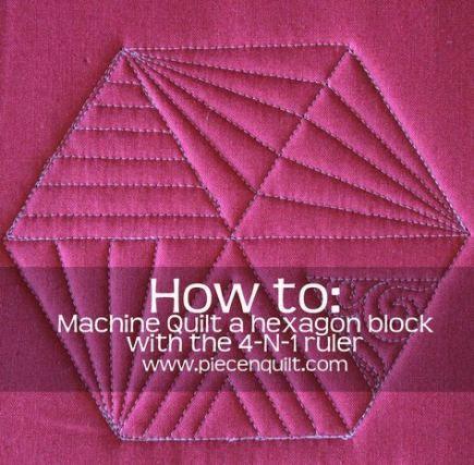 46+ trendy free motion quilting designs hexagon #modernquiltingdesigns