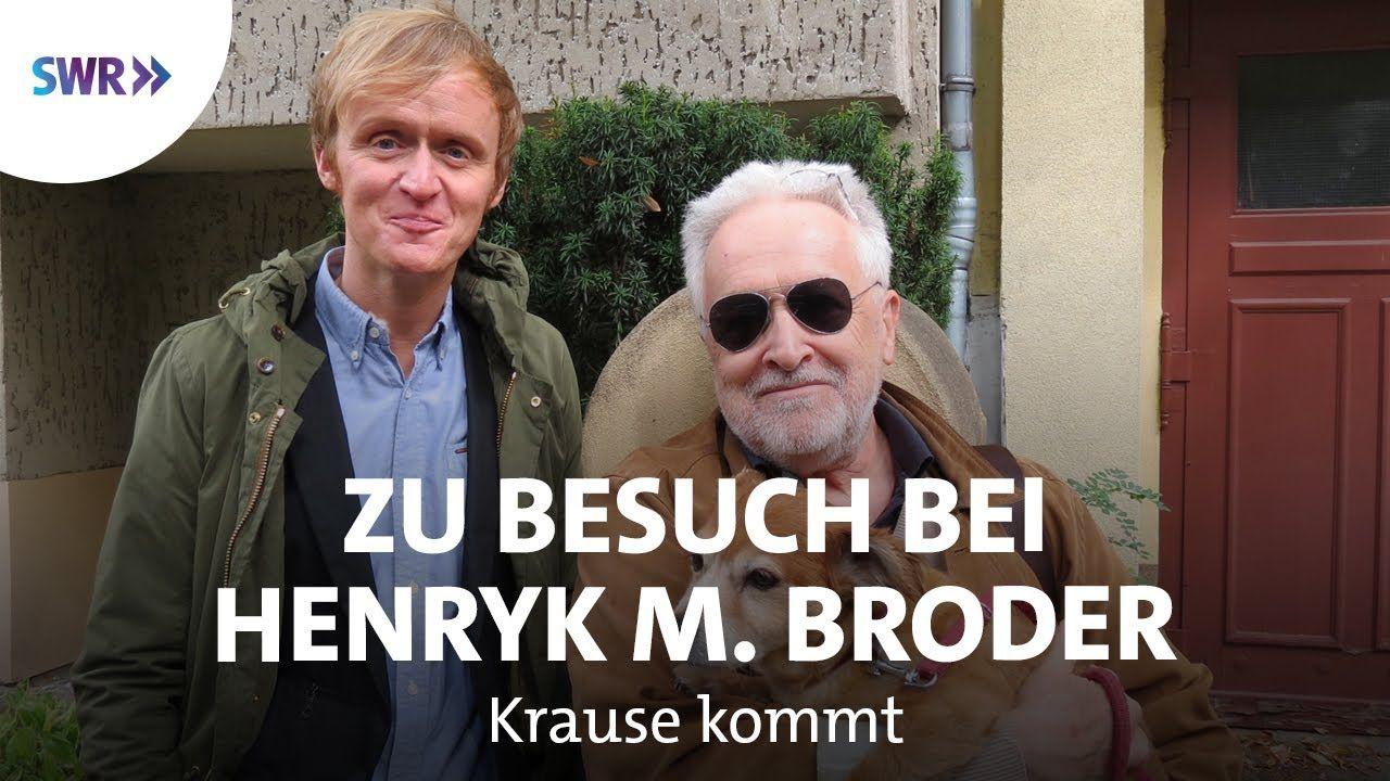 Zu Besuch Bei Henryk M Broder Swr Krause Kommt Besuchen Bucher Heute Geoffnet
