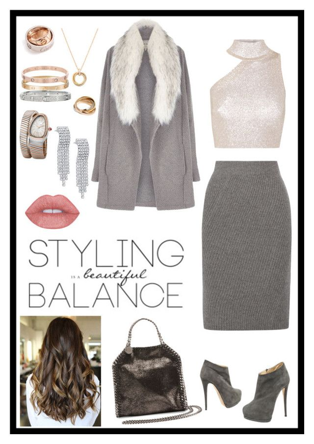 Winter travel by lm56z on Polyvore featuring polyvore, Cushnie Et Ochs, River Island, Madewell, Giuseppe Zanotti, STELLA McCARTNEY, Bulgari, Cartier, fashion, style and clothing