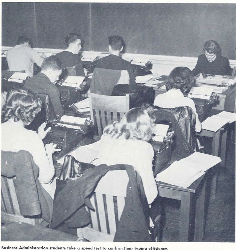 Students In A Business Class 1948 From The 1949 Oregana