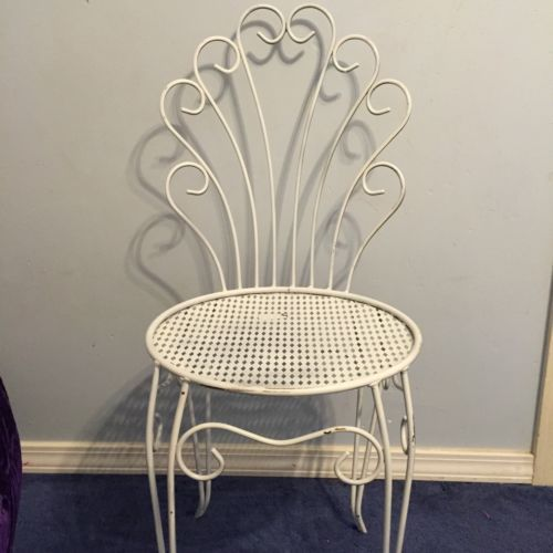 Wrought Iron Vanity vintage wrought iron vanity chair mid century metal hair pin leg