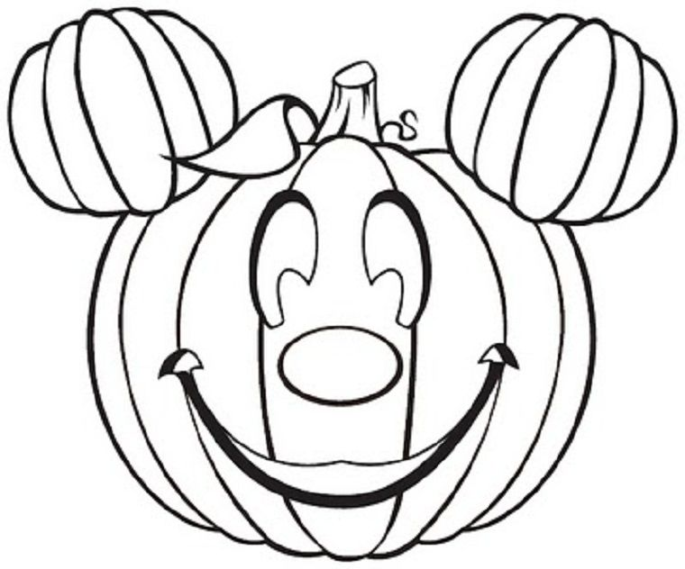 Pumpkin Coloring Template