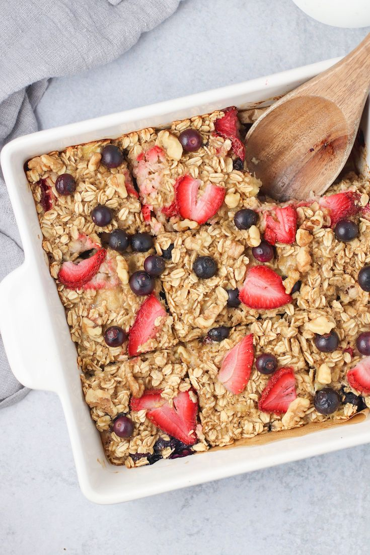 Healthy Berry Baked Oatmeal Recipe Baked oatmeal
