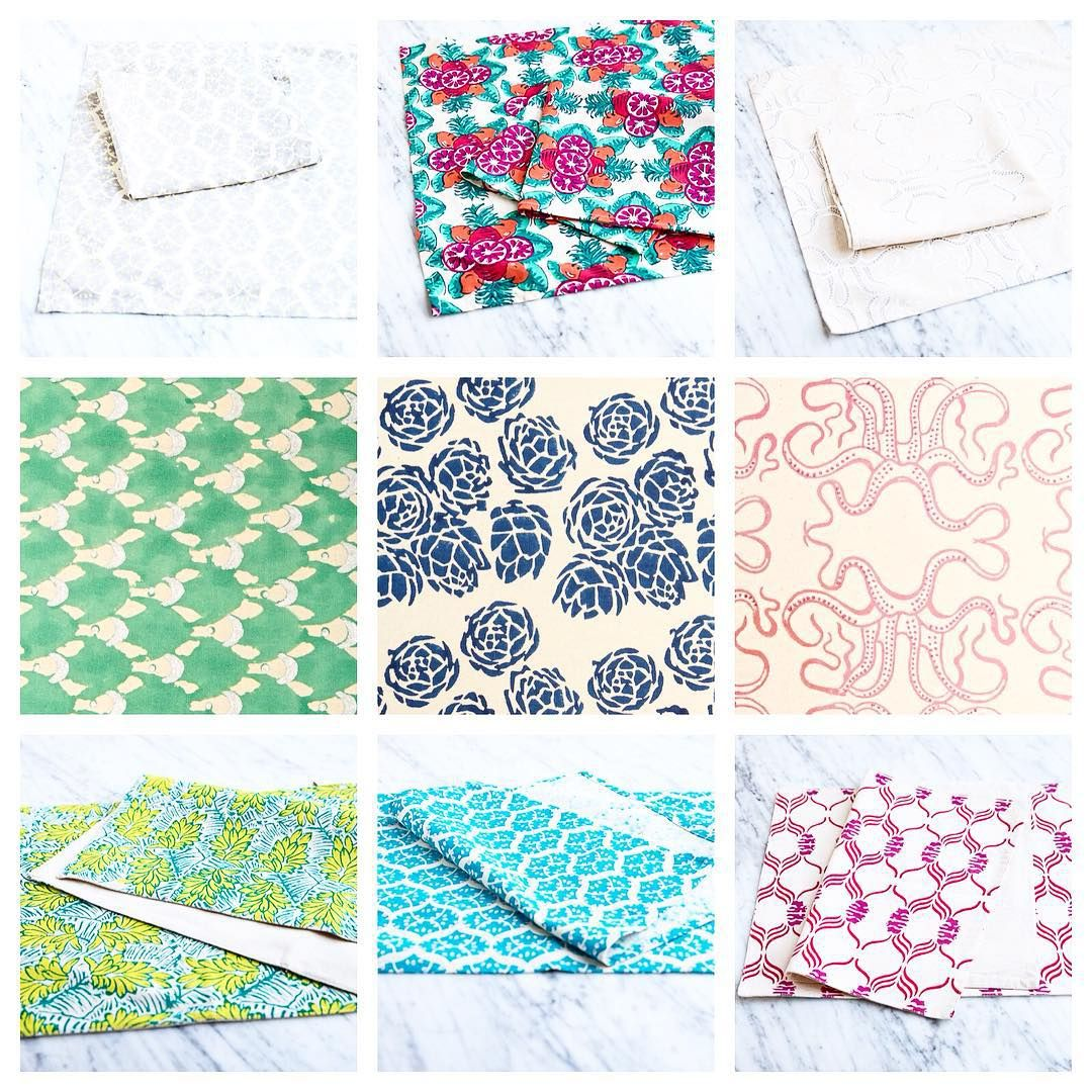 """""""Find our variety of table linens for SALE online now at www.ecruonline. #ecru #linen #tablecloth #placemats #napkins #handblock #printed"""""""