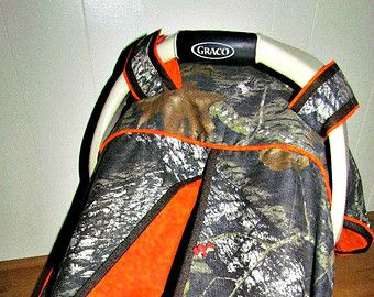 Camo Car Seat Canopy in Realtree Xtra Camouflage and Turquoise /Baby Carseat Canopy / Infant Carseat Canopy Cover / My Baby Blind & Camo Car Seat Canopy in Realtree Xtra by classykidscreations ...