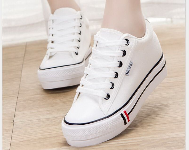 Ladies UK lace-up high top canvas shoes rivet casual trainers shoes size 35-40 #