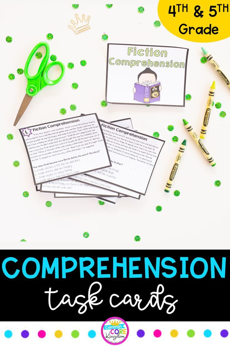 Fiction Reading Comprehension Task Cards 4th & 5th Grade