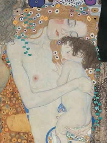 klimt, mother and child