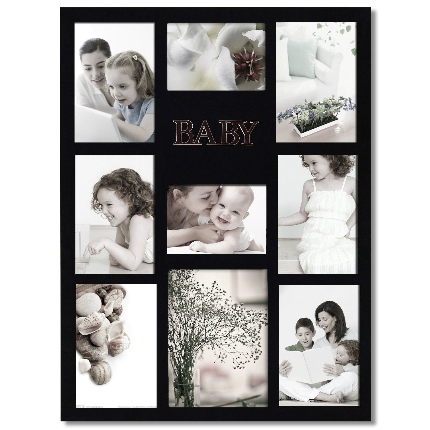 This beautiful collage photo frame celebrates the youngest members ...