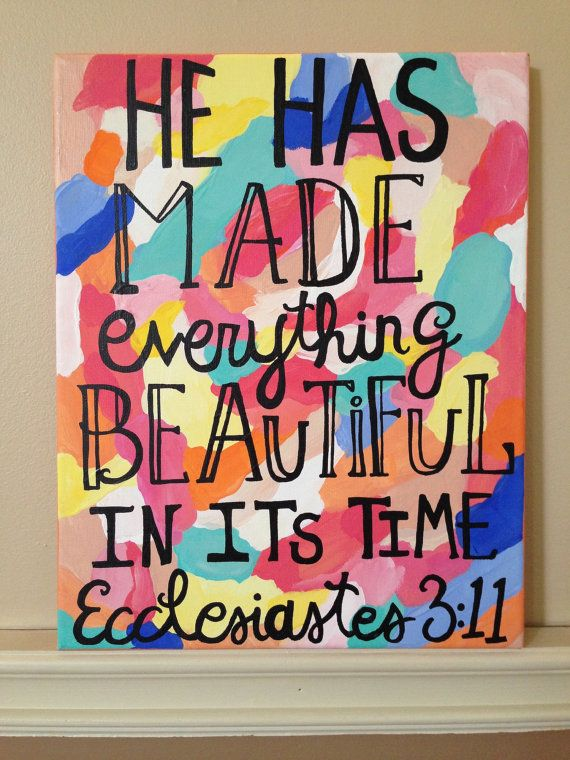 Ecclesiastes 3:11 Bible Verse, Colorful Acrylic Canvas
