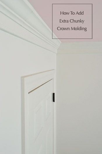 An easy & affordable way to add extra thick crown molding