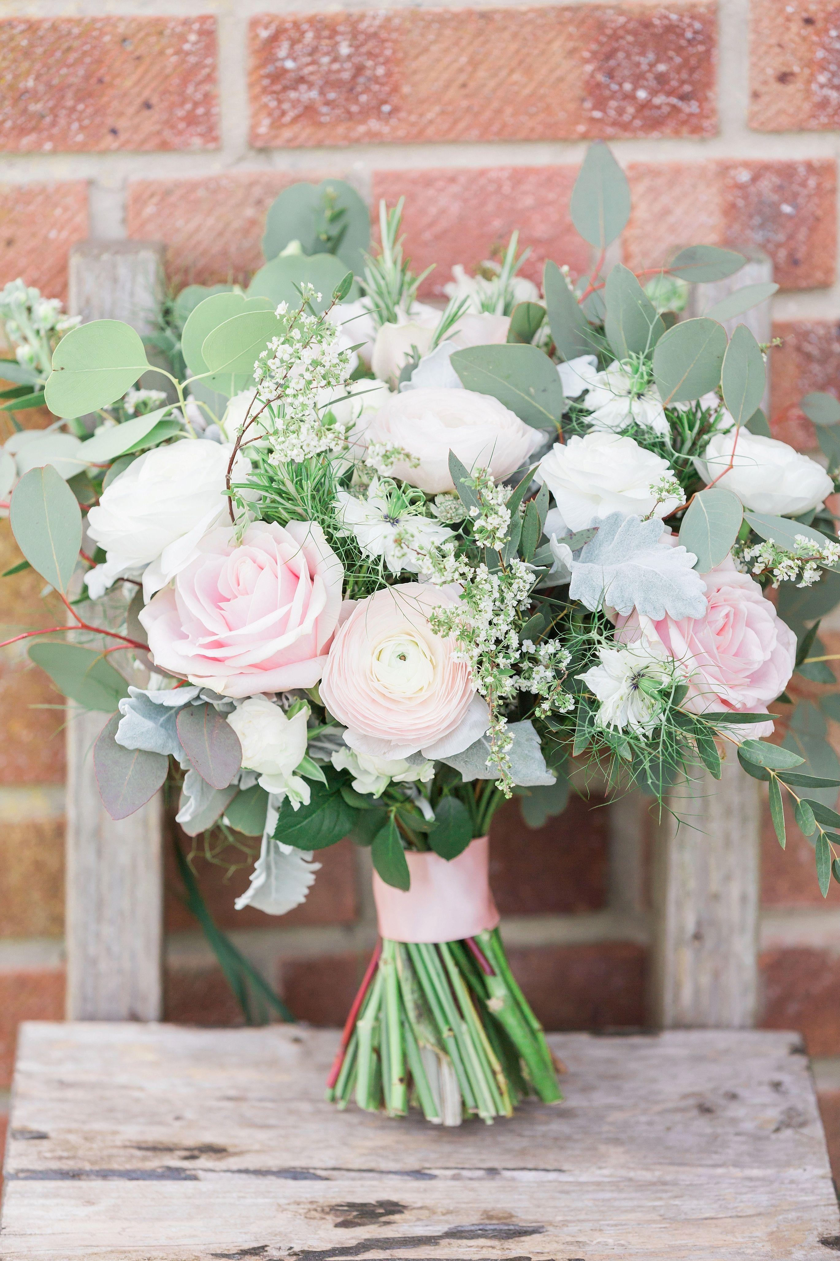 Wedding at Woodlands Castle Somerset Pink, white