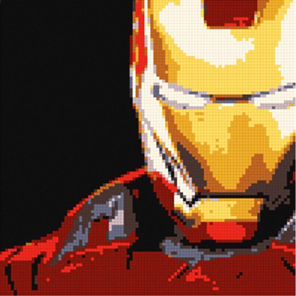 Ury Moc Seti 5000 Adet Süper Kahramanlar Iron Man Mozaik Piksel