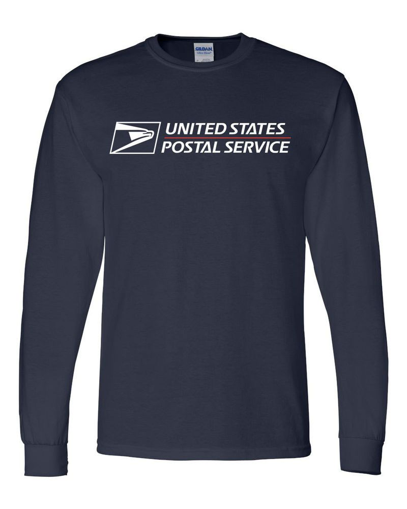 USPS POSTAL LONG SLEEVE TSHIRT WITH FULL POSTAL LOGO ON