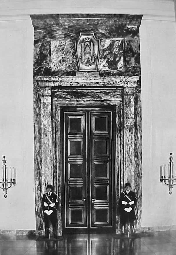 the door to hitler s office at the reich chancellery. Black Bedroom Furniture Sets. Home Design Ideas