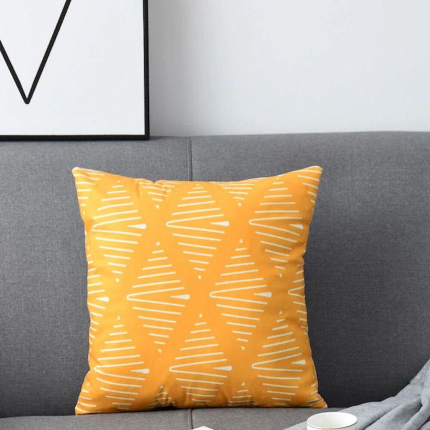 غطاء خدادية زينة برتقالي و أبيض Home Accessories Throw Pillows Pillows