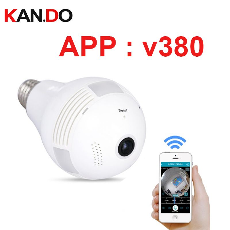 Camera 360 Degrés >> Us 33 93 Kan Do V380 1 3mp 360 Degree Panorama Wifi Hd Ip