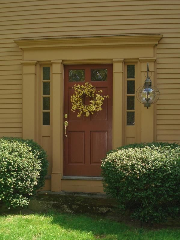 The Colors Are Perfect And I Love Light Colonial Front Door Exterior