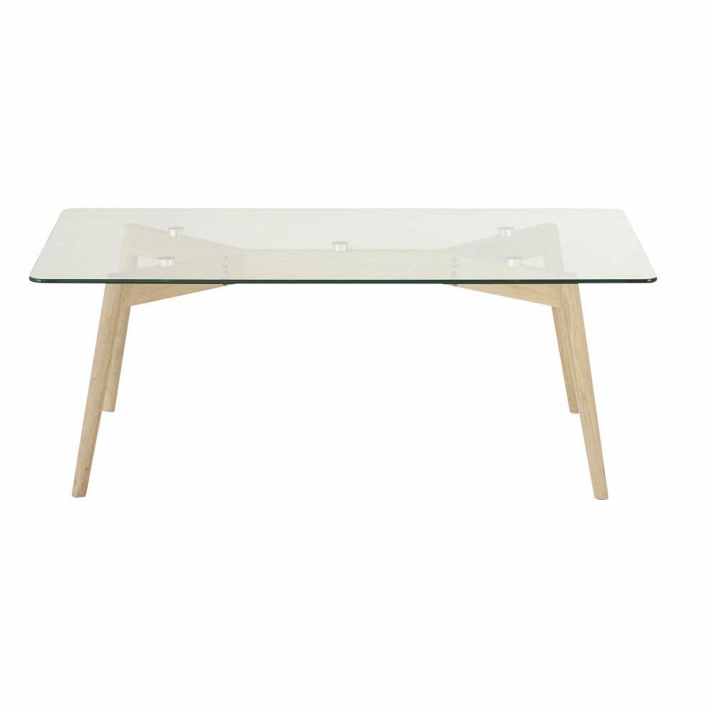 Tavolini Salotto Maison Du Monde.Tavolino Da Salotto In Vetro E Legno Di Quercia Oak Coffee Table