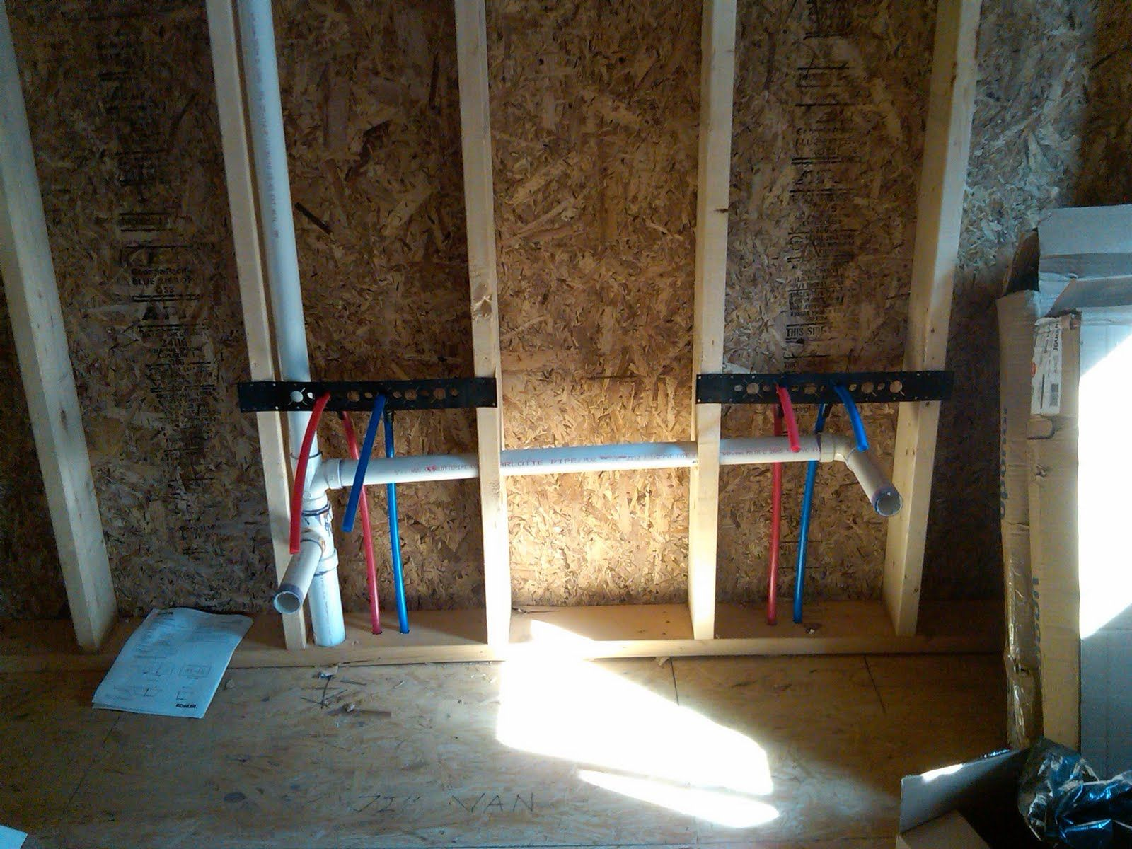 Plumbing Progress Pex Bathroom Rough In Started Pex Plumbing