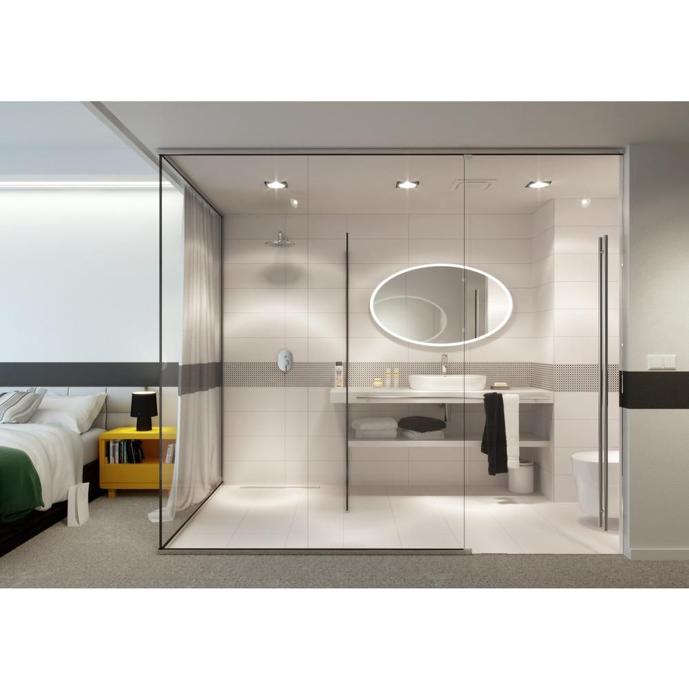 Http Www Leroymerlin Pl Files Media Image 954 1694954 Product Terakota Black And White Opoczno Ma Round Mirror Bathroom Laundry In Bathroom Stylish Interiors