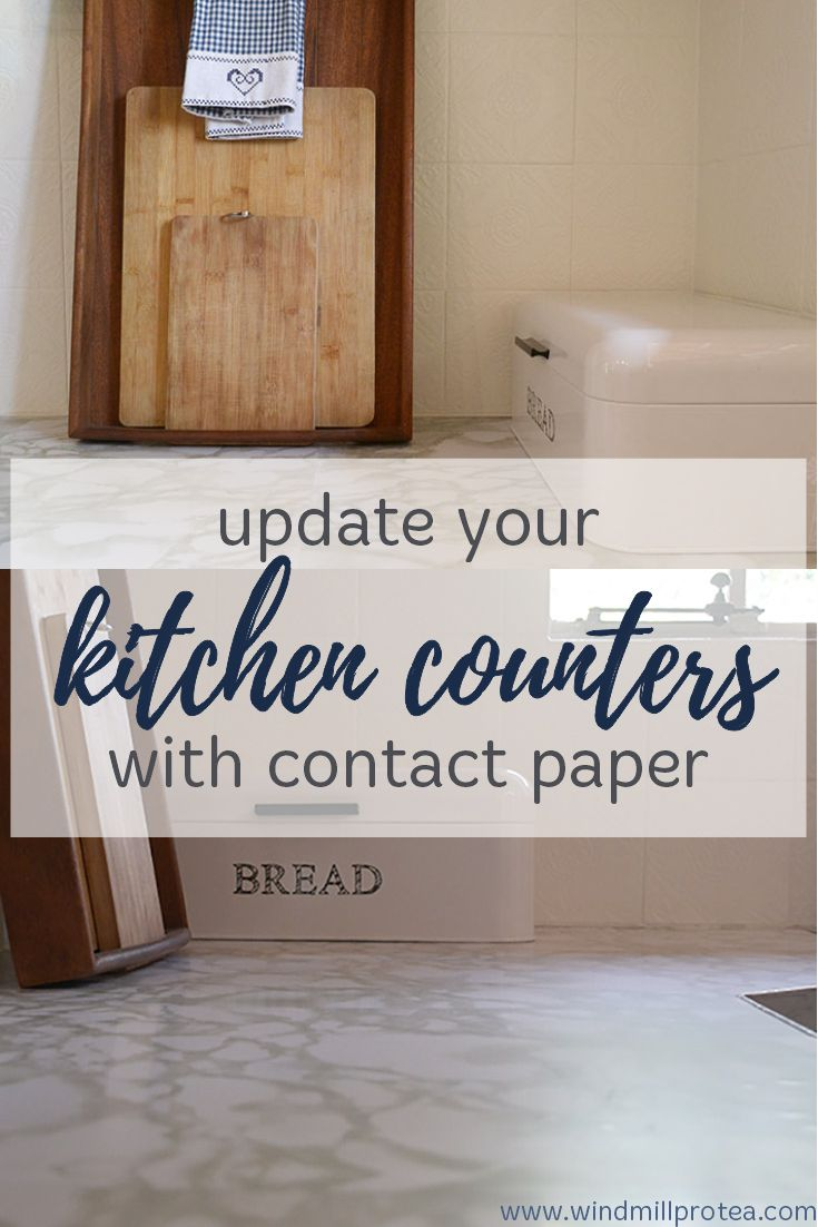 update your kitchen counter with contact paper | contact