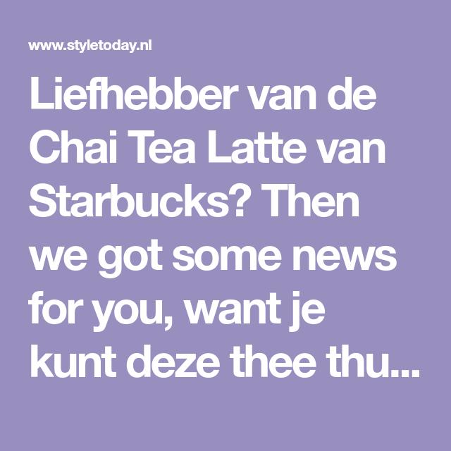 Chai, Latte En Starbucks