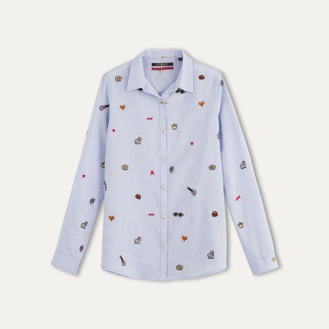 Chemise motifs brodés MAISON SCOTCH chemises dessin Pinterest - Dessiner Maison D Gratuit