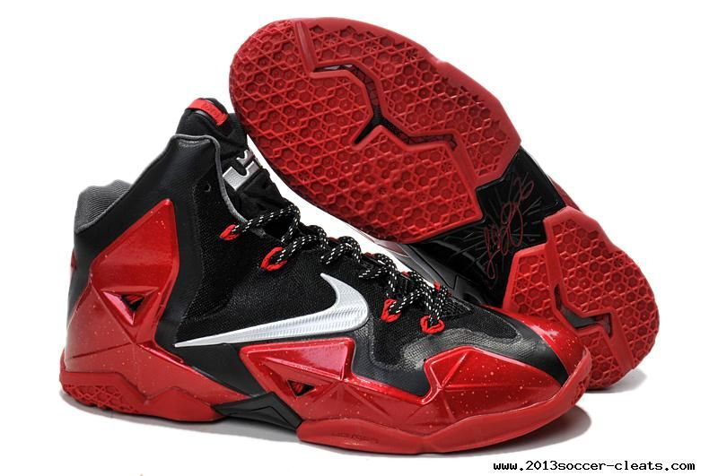 ad7e4bb0af927 Miami Heat Away Nike Lebron 11 PS Shoes Metallic Red Black Silver Grey  616175 012 Buy